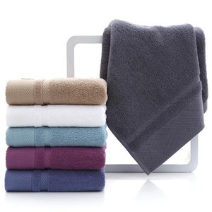34*75cm Bathroom Towels Long-staple Cotton Pure Cotton Padded Towel Home Hotel Supplies Bathroom Supplies 6 Color Can Custom Logo XD24086