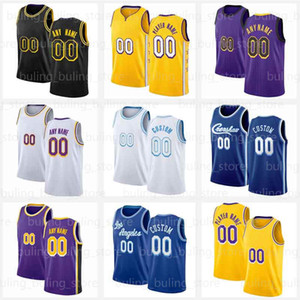 Los 23 Jersey 6 Angeles Black Anthony 3 Davis Mamba LBJ Alex 4 Caruso Viola Giallo 2020 2021 New Mens Kid Youth 8 Jerseys da basket
