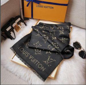 Alta qualidade de lenços de moda quatro estações de seda da marca Louis Vuitton super longa turismo de designer xale mulheres suave cicatriz bandas de cabelo