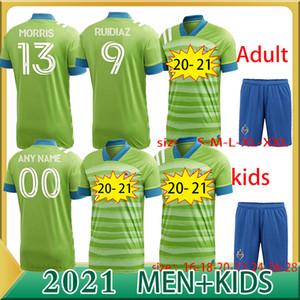 2020 Fussball Seattle Sounders Jersey 13 Morris 9 Ruidiaz 10 Lodeeiro 7 Roldan 18 Leerdam 19 Shipp Svensson Joao Paul Football Hemd Kits