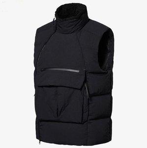 Nueva Sólo para hombre abajo concede el chaleco de la manera invierno chaqueta de la capa con las Cartas de alta calidad al aire libre Ropa de Calle tamaño asiático L-3XL