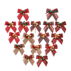 Narin ilmek Noel Hediyesi Yaylar ile Küçük Bells Yaylar Craft Yılbaşı Ağacı Dekorasyon Noel Bow Aile Süsleme