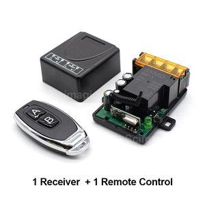 433MHz Wireless Remote Control Switch AC 110V 220V 1CH Relay Receiver Module RF Light Gate Garage Remote Control