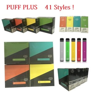 PUFF PLUS 41 stili nuovi imballaggi usa e getta Cartridge 550mAh Battery 3.2mL preriempita Vape Pods Stick sigarette e portatili vs onee