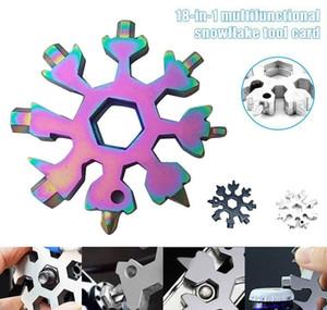 Spanne Outdoor Snowflake Hot Hex 1 Pocket Multipurposer In Hike Tool Survive Openers Camp Multifunction Keyring 18 Multi Ring tsetw DWF2346
