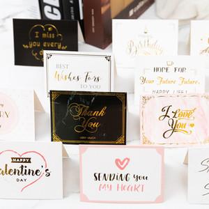 Carte postale de la Saint Valentin avec enveloppe merci Joyeux anniversaire Je vous souhaite toutes les meilleures cartes de voeux