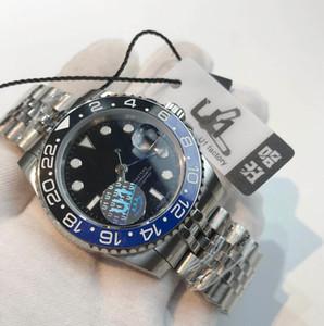 New U1 мужские часы 40 мм автоматические механические часы из нержавеющей стали синие черные керамические сапфировые наручные часы супер светящийся монр де Люкс