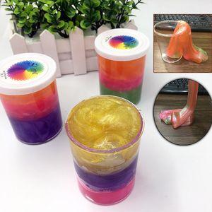 Trois couleurs Slime jouets pour les enfants en caoutchouc Slime Jouets anti-stress dynamique de sable pour les jouets squeeze par la main Clay
