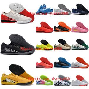 2021 качество мужские футбольные ботинки Mercurial Supply 13 PRO IC CLEATS CR7 Neymar Ronaldo Футбольные ботинки в помещении Scarpe