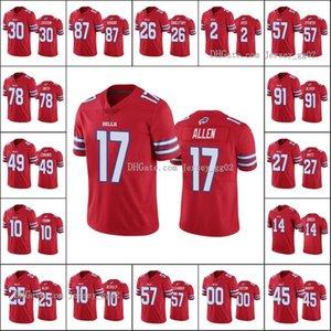 bizonfaturaErkekler # 17 Josh Allen 25 LeSean McCoy 14 Stefon Diggs 49 Tremaine Edmunds Özel Kadınlar GençlikNFL Futbol Jersey