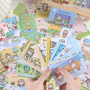 40pcs lot Kawaii Cartoon Stickers Set custom Gift Sealing Stick Label Scrapbooking Decorative collage back to school Stationery