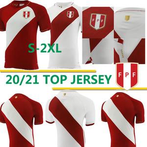 2020 2021 Perú Camisetas de fútbol Home White Away Red Guerrero Farfan Cueva Lapadula Lores Perù Soccer Maglie da calcio Camicia da calcio Uniformi