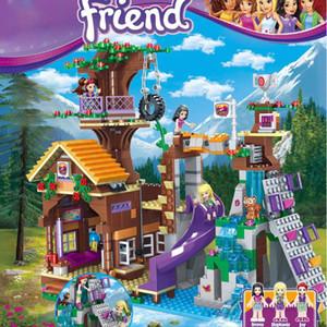 872 قطع أصدقاء مغامرة Treehouse ستيفاني الرقمية كيت كتل فتاة إيمما لعبة متوافقة مع lepining البناء هدية 2 أوامر