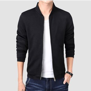 2020 Spring Autumn Casual Solid Fashion Slim Bomber Jacket Men Overcoat New Arrival Baseball Jackets Men's Jacket M-4XL Top
