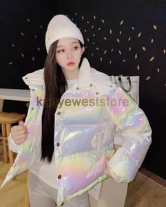 designer brand womens 90 white goose down Parkas jacket winter outwear thick coat laser reflection clothing best quality