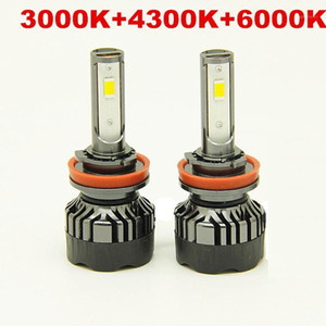 3 color in 1 3000k 4300k 6000k car 12v 55w SUPER bright led H7 H11 9005 9006 H4 led headlight1