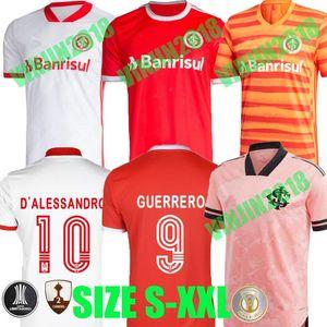 2020 BRAZİL CLUB SC Internacional Guerrero Brasil Octubre Rosa 축구 유니폼 핑크 N. 로페즈 Camisa de Futebol 축구 셔츠 20 21