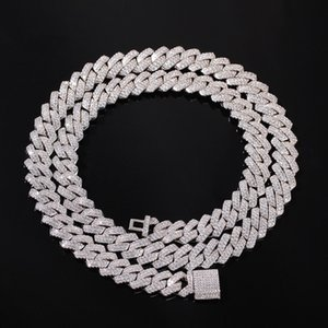 13mm Iced Out Cuban Necklace Chain Men's hip hop Necklace For Men 18inch Gold Silver