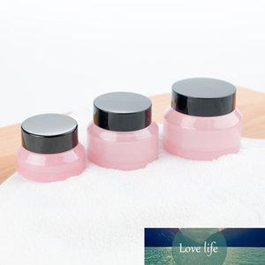 3PCS 15G / 30G / 50G Пустые розовые стеклянные косметические лица для лица бутылки для лица бальзам для губ контейнер банка образца флаконы проездные янтарные составные горшки