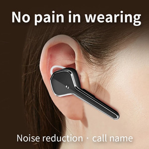 New earphone wireless handsfree Bluetooth headset Business earphone with microphone with charger Active noise cancelling