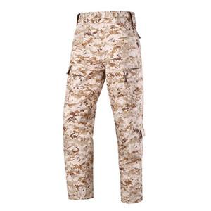 HOT الجيش الأمريكي الرجال منتصف الخصر سليم لعبة CS بنطلون بدلة تكتيكات التمويه التكتيكية سروال الحجم S-XXL ACU FG AU الأسود