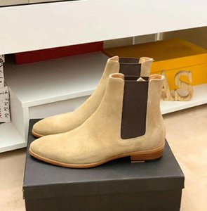 Vendita calda-2020 Classic Wyatt stivaletti caviglia stile occidentale in pelle nera stivali motorcilli da uomo Gentlemen scarpe caduta inverno