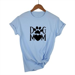 Dog mom paw Letters harajuku Print Women tshirt Cotton Casual Funny t shirt For Lady Girl Top Tee Hipster Drop Ship