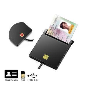 Lettore di smart card USB DOD USB Accesso pubblico Adattatore per lettore di schede Cac CAC / Scheda d'identità / SIM / IC Bank Chip card per con Windows XP / Vista / 7/8/10, Mac OS