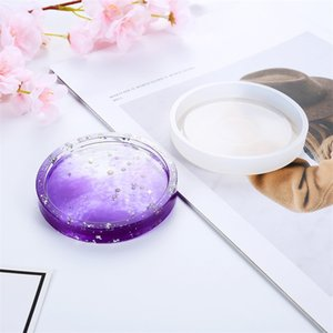 Creative DIY Coaster Mold Silicone Casting Crystal Mold Transparent Glossy Flower Pot Base Mould 4 Styles 3 7ms E19