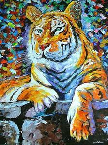 Leonid Afremov Güzel Sibirya Tiger Ev Dekorasyon Duvar Dekorasyonu Yağ Tuval Wall Art Canvas Resimler İçin Living Room 201.007 On Boyama