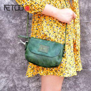 Aetoo высококачественные новые оригинальные ручной работы кожаные сумки Mini мешок кожаное искусство простое плечо C0121
