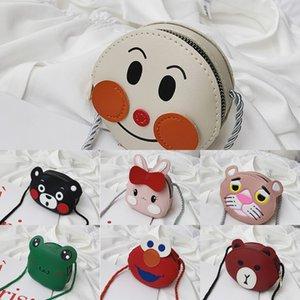 2FT 2019 crianças sorriso rosto meninas moedas bolsa messenger bag bordado gato bebê orelha moeda bolsa vermelho Bonitos sacos para crianças presentes