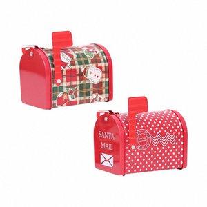 2019 Новый год DIY Рождественские украшения Xmas Tinplate Mailbox Box Iron Mailbox Cans Cansmens Подарок Мультфильм Candy Box AB380 T1W0 #