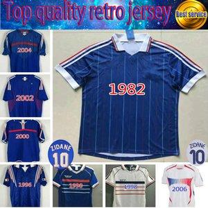 1998 Francia Francia Campeones de la Copa Mundial Retro Vintage Zidane Henry Maillot de Foot Tailandia Calidad Soccer Jerseys 1996 2004 2005 2006 2007