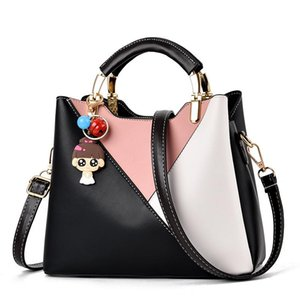 Bag girl 2020 new splice single shoulder pu handbag temperament oblique slung classic fashion lady