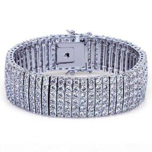 2018 new hot superior quality Bracelet 6 rows of zircon gilded hip-hop men's Bracelet