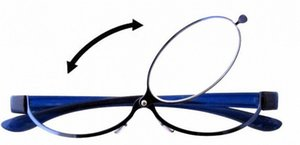 Patent Blue Magnifying Eye Makeup Eyeglasses Flip Up Reading Glasses For Woman With Case Lightweight And Comfortable A1ew#
