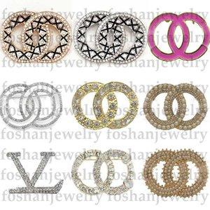 Yeni Varış Tasarımcı Broşlar Kristal Moda Broş Pins Alaşım Broş Giyim Suits Lüks Broşlar Kadınlar Takı Sıcak Satış