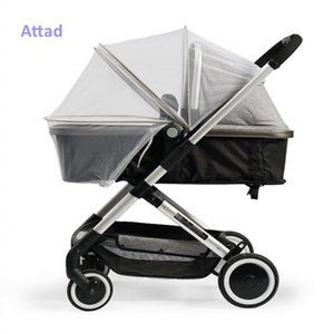 Attad Mosquito Netting for Stroller, Mosquito Net Full Cover, Stretchable Netting Breathable Folding Dual-Use Zipper Mesh Mosquito Net