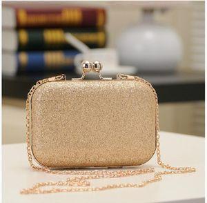 Womens Bling Evening Party Handbag Wedding Ball Clutch Bag With Mini Minaudiere Hand Bag Purse Gold Birthday Gift