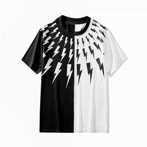 Yeni Varış Erkek T Shirt Siyah Beyaz Erkek Bayan Moda T Shirt Üst Temel Kısa Kollu S-XXL