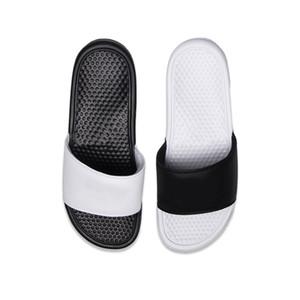 Cheap men women designer BENASSI ultra slippers black white pink for summer beach hotel shower room indoor Non-slip mens sandals size 36-45