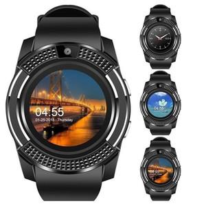 Reloj elegante V8 Hombres Bluetooth relojes deportivos Señoras de las mujeres Rel gio SmartWatch con ranura para tarjeta de Sim Cámara PK DZ09 Y1 A1