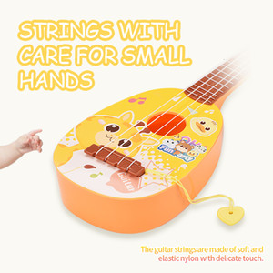Middle Size 4 String Mini Guitar Toy Kid Baby Early Education Music Guitar Toy Children Cute Christmas Gift 3 styles