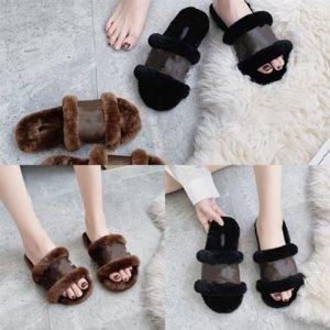 kx0UY Real Wool Women fur slipper Slides high quality pantoufle Sandals Fashion designer Furry Home fur Yeah Slide Pantoufle Women's flip