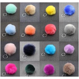 Christmas Gift Artificial Rabbit Fur Ball Plush Fuzzy Fur Key Chain Pom Pom Keychain Car Bag Keychain Key Ring Pendant Jewelry F qylHJp