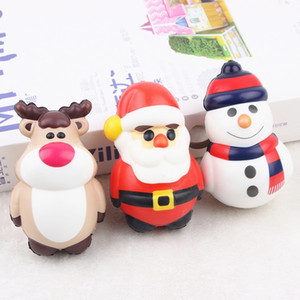 Soft Child Toy Doll Christmas Ornament Squishy PU Simulation Vent Santa Claus Dolls Slow Rebound Elks Snowmen Pressure Ball Compact 4mc F2