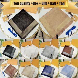 Con il sacchetto Gift Box Tag 20ss migliori sciarpe di qualità per le donne Inverno Mens marca Sciarpa lusso Pashmina Warm modo imita cachemire Sciarpe