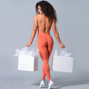 Designer Womens Yoga Suits Outfits Seamless backless clothing Tracksuits Fitness sports gymshark one Piece Set jumpsiut Bra Leggings runner