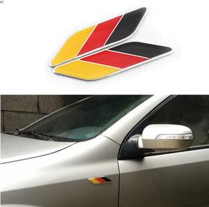Car Styling ABS 3D Germany Flag Leaf Side Fender Emblem Stickers For BMW Volkswagen VW Skoda Mercedes Audi Auto Car Accessories